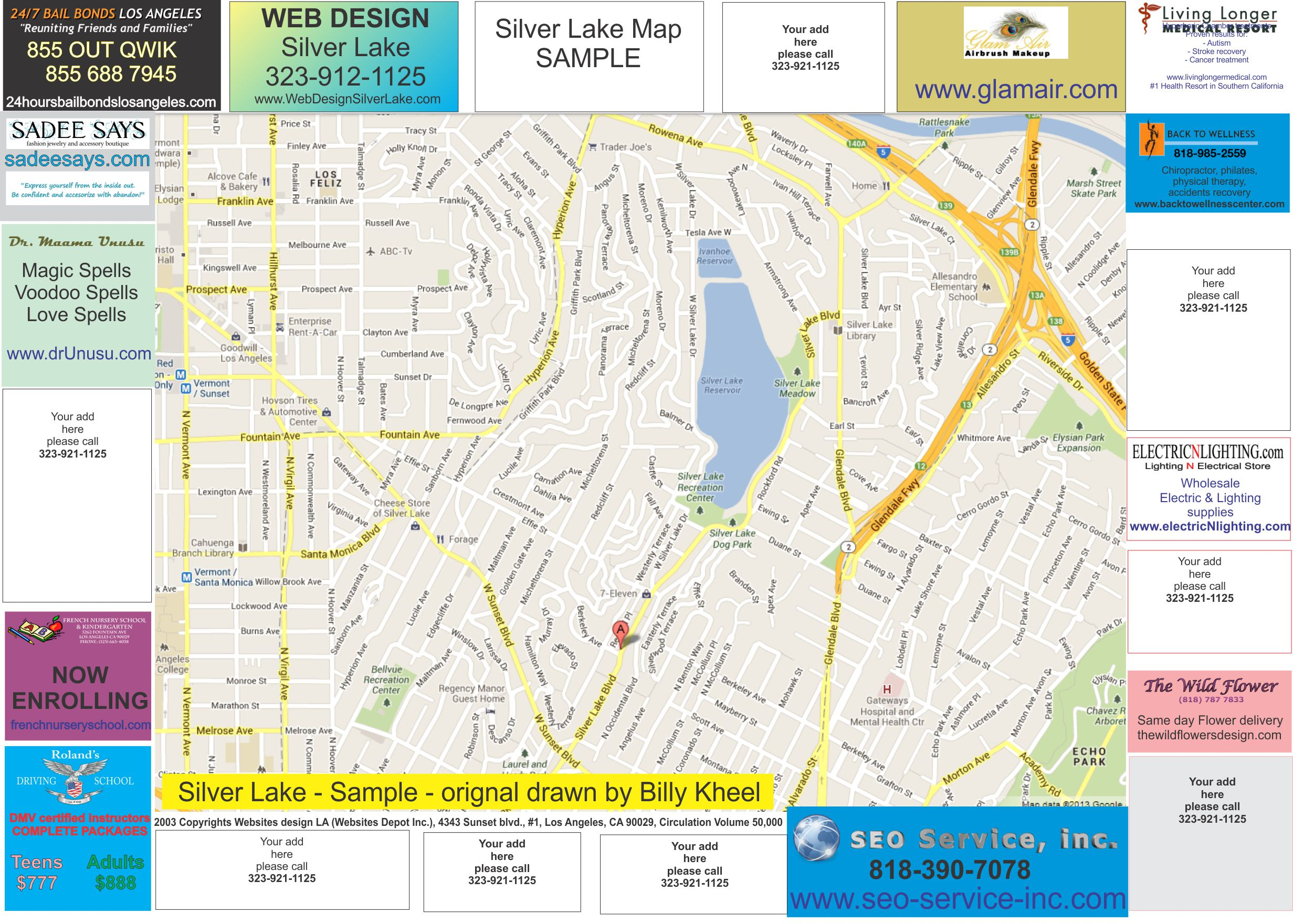 Coming Soon Local Map Of Silver Lake Web Design Silver Lake - Los angeles map silver lake